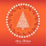 Weihnachtsbaum-Applikationsvektorhintergrund. Lizenzfreie Stockfotos