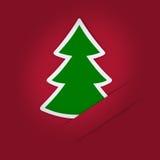Weihnachtsbaum Applique Lizenzfreies Stockbild