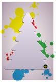 Weihnachtsbaum Appliquevektorhintergrund. lizenzfreie abbildung