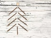 Weihnachtsbaum auf dem weißen Hintergrund Stockfotos