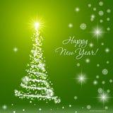 Weihnachtsbaum auf grünem Hintergrund Stockfotos