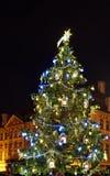 Weihnachtsbaum auf Staromestske-Quadrat in Prag im Jahre 2015 Lizenzfreies Stockfoto