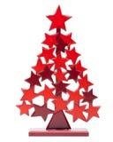 Weihnachtsbaum auf Weiß stockbilder