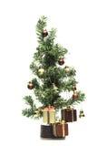 Weihnachtsbaum auf weißem Hintergrund Stockfotos