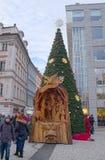 Weihnachtsbaum auf Wenceslas Square Lizenzfreies Stockbild