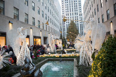 Weihnachtsbaum bei Rockefeller Stockfotografie