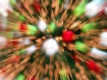 Weihnachtsbaum beleuchtet abstrakten Hintergrund Lizenzfreie Stockbilder