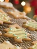 Weihnachtsbaum-Biskuite Stockbild