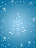 Weihnachtsbaum in Blau 3 Stockfotografie
