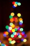 Weihnachtsbaum Bokeh Lizenzfreies Stockbild