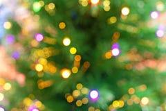 Weihnachtsbaum bokeh Hintergrund Lizenzfreies Stockbild