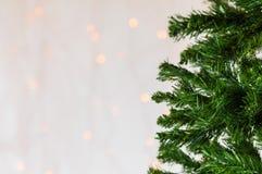 Weihnachtsbaum, bokeh Hintergrund Kopieren Sie Platz Stockbilder