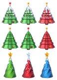 Weihnachtsbaum 3D stellte 1 ein Lizenzfreie Stockfotografie