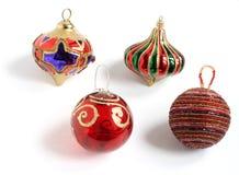 Weihnachtsbaum-Dekorationflitter stockfoto