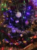 Weihnachtsbaum-Dekorationsdetail Stockbilder