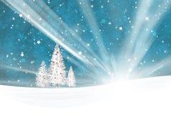 Weihnachtsbaum-Dekorationslandschaftshintergrund stock abbildung