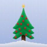 Weihnachtsbaum in den Streifen Stockfoto