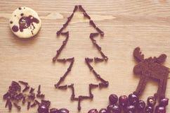 Weihnachtsbaum der Nelken Stockfotos