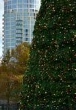 Weihnachtsbaum in der südlichen Stadt Ökologische, hölzerne Weihnachtsdekorationen Stockbilder