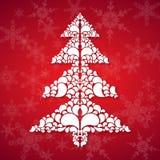 Weihnachtsbaum in der Verzierungart vektor abbildung