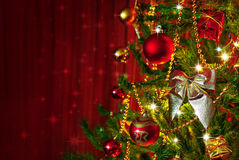 Weihnachtsbaum-Detail Stockfoto