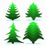Weihnachtsbaum einige Stücke auf weißer Hintergrundillustration Lizenzfreies Stockfoto
