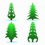 Weihnachtsbaum einige Stücke auf weißer Hintergrundillustration Stockbilder