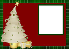 Weihnachtsbaum-Einklebebuch-Seite Stockfoto