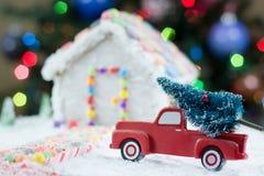 Weihnachtsbaum für das Lebkuchenhaus Lizenzfreie Stockfotos
