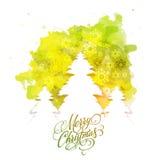 Weihnachtsbaum für Feier der frohen Weihnachten stock abbildung