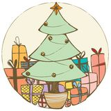 Weihnachtsbaum-Flecken Stockfoto