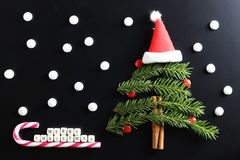 Weihnachtsbaum-Formhintergrund Stockbilder