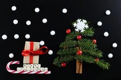 Weihnachtsbaum-Formhintergrund Lizenzfreie Stockfotos
