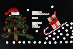 Weihnachtsbaum-Formhintergrund Stockfotos