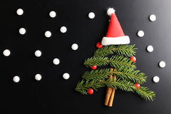 Weihnachtsbaum-Formhintergrund Stockfotografie