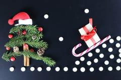 Weihnachtsbaum-Formhintergrund Stockbild