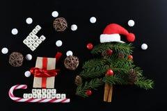 Weihnachtsbaum-Formhintergrund Lizenzfreie Stockfotografie