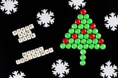 Weihnachtsbaum-Formsüßigkeitshintergrund Lizenzfreies Stockbild