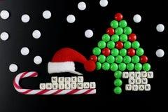 Weihnachtsbaum-Formsüßigkeitshintergrund Lizenzfreie Stockbilder