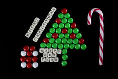 Weihnachtsbaum-Formsüßigkeitshintergrund Lizenzfreie Stockfotos