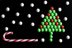 Weihnachtsbaum-Formsüßigkeitshintergrund Lizenzfreie Stockfotografie