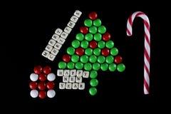 Weihnachtsbaum-Formsüßigkeitshintergrund Stockfotografie