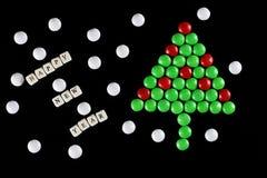Weihnachtsbaum-Formsüßigkeitshintergrund Stockbilder