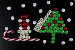 Weihnachtsbaum-Formsüßigkeitshintergrund Stockbild