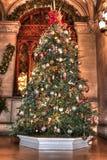 Weihnachtsbaum ganz gedeckt heraus stockfotos