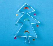 Weihnachtsbaum gebildet vom Papier Lizenzfreies Stockbild