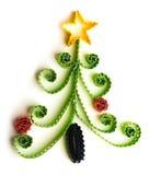 Weihnachtsbaum gemacht vom Papier Stockfotos