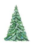 Weihnachtsbaum getrennt Stockbilder