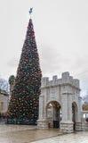 Weihnachtsbaum, griechisch-orthodoxe Kirche der Ankündigung, Nazaret stockbild