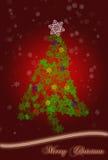 Weihnachtsbaum-Grußkarte stockfoto